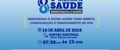 5ª Conferência Municipal de Saúde  2019