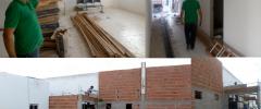 O prefeito Lídio Carneiro visitou as obras de reforma e extensão da nova unidade de saúde da cidade.