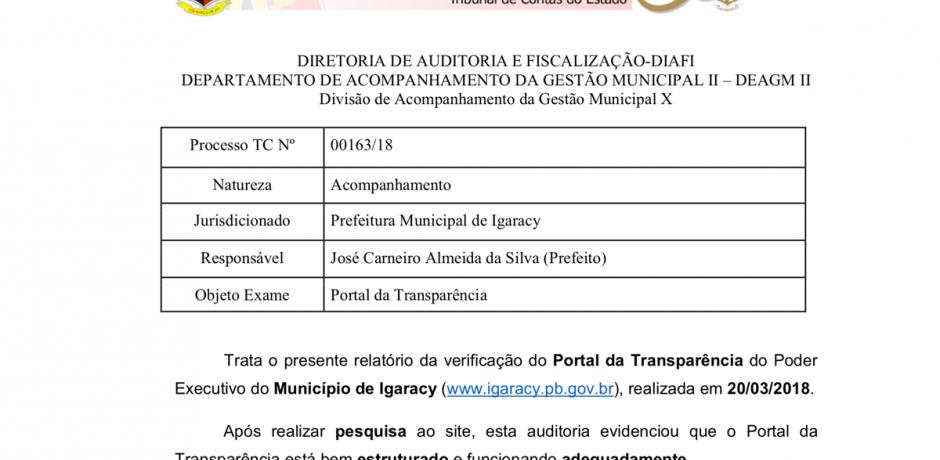 Portal do nosso município com total transparência!
