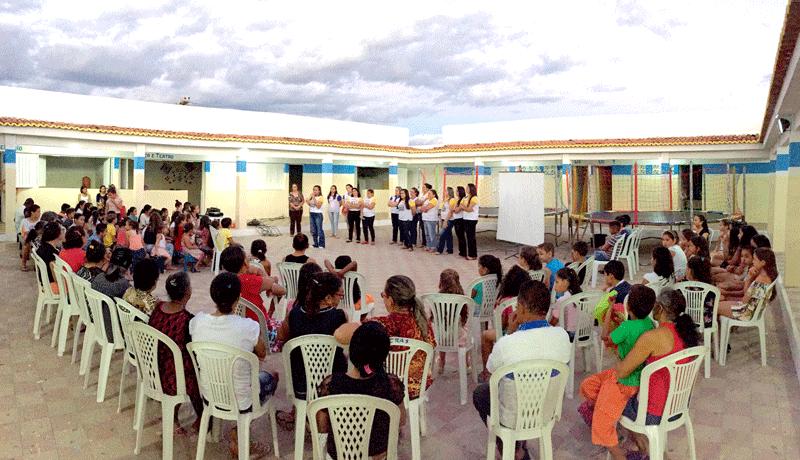 O CRAS inicia suas atividades com os usuários dos programas.