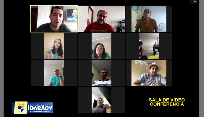 Prefeito de Igaracy reúne secretários online e debate metas administrativas