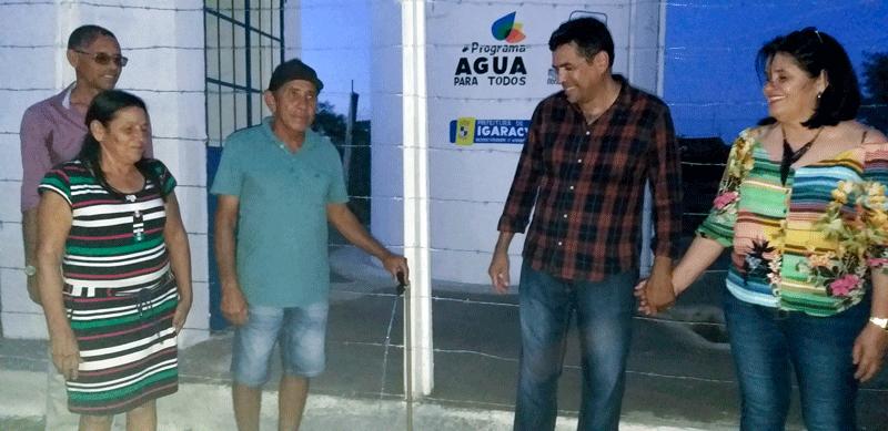 Prefeito de Igaracy inaugura abastecimento de água e atende mais de 90 pessoas