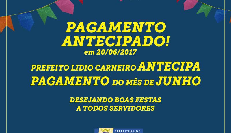 PREFEITURA DE IGARACY ANTECIPA PAGAMENTO