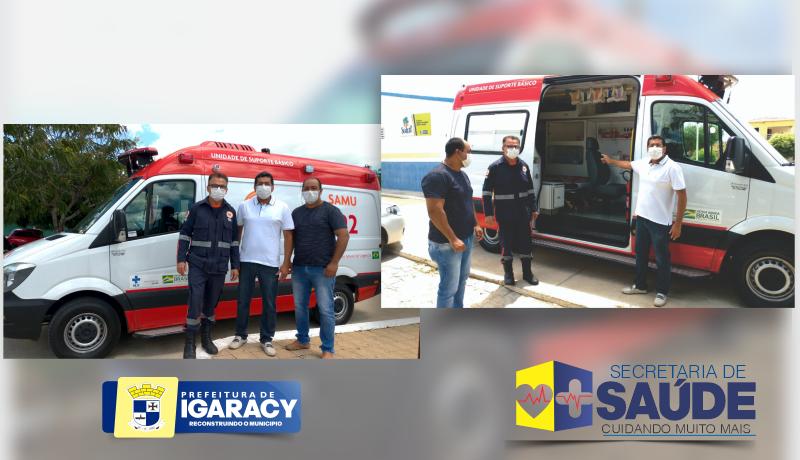 Uma nova ambulância totalmente equipada para servir ao cidadão igaracyense através do SAMU 192.