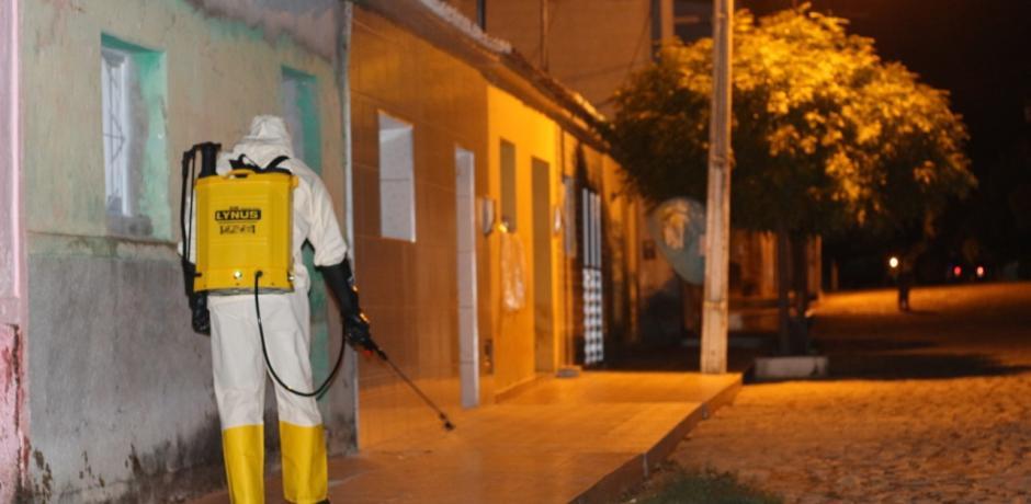Igaracy continua a desinfecção de ruas e avenidas da cidade