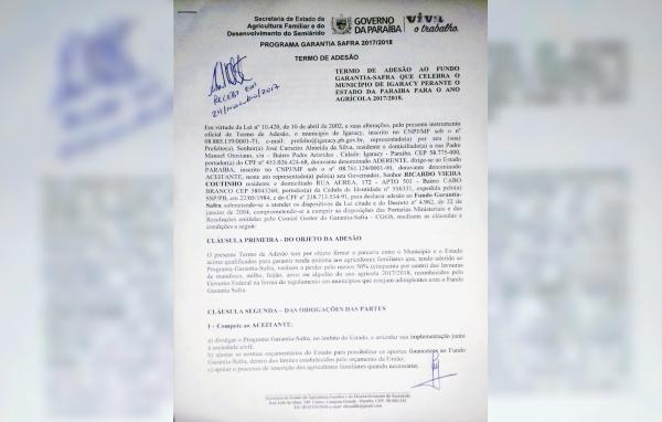 Assinado a adesão ao Garantia Safra