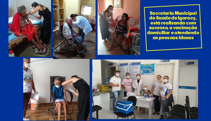 Prefeitura de Igaracy realiza vacinação domiciliar